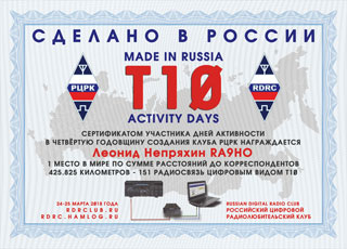 Final results of T10 Activity Days «Made in Russia» 2018