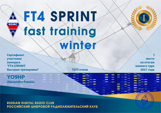 Results of the winter round «FT4 SPRINT fast training» 2021