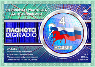 "Результаты дня активности РЦРК ""Планета DIGIRADIO -2015"""