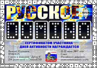 Results RUSSIAN DOMINO 2017